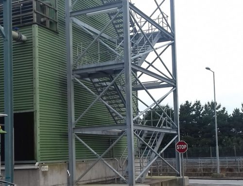 Glaxo Smithkline Cooling Towers Stairs